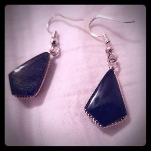 🌿925 Silver Earrings Onyx Gemstone🌿